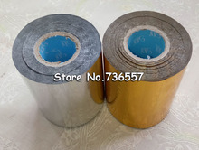 2 Rolls(gold and slilver) Hot Foil Stamping Paper Heat Transfer Anodized Gilded Paper with Shipping Cost Fee