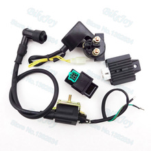 Ignition Coil 5 pin AC CDI Regulator Rectifier Relay Kit For 50cc 70cc 90cc 110cc Chinese ATV Quad Motorcycle