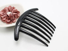 6 Black Plastic 7 Teeth Volume Inserts Hair Comb Clips Pins for Bouffant Updo(China)