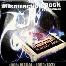 Misdirection Deck - David Stone - Magic Trick ,Stage,card magic,Close Up magic props,mentalism, Accessories
