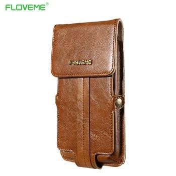 FLOVEME Universel 5.5 pouce Taille PU Étui En Cuir Pour iPhone 7 Plus/6 Plus/6 S/5 5S/4 4S Pour Samsung Galaxy S7 S6 Edge cas