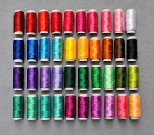 40PCS/lot 8g/pcs Multicolor Ice Silk Embroidery Thread Sewing Embroidery Cross Stitch Silk Threads Embroidery Line For Handmade(China)