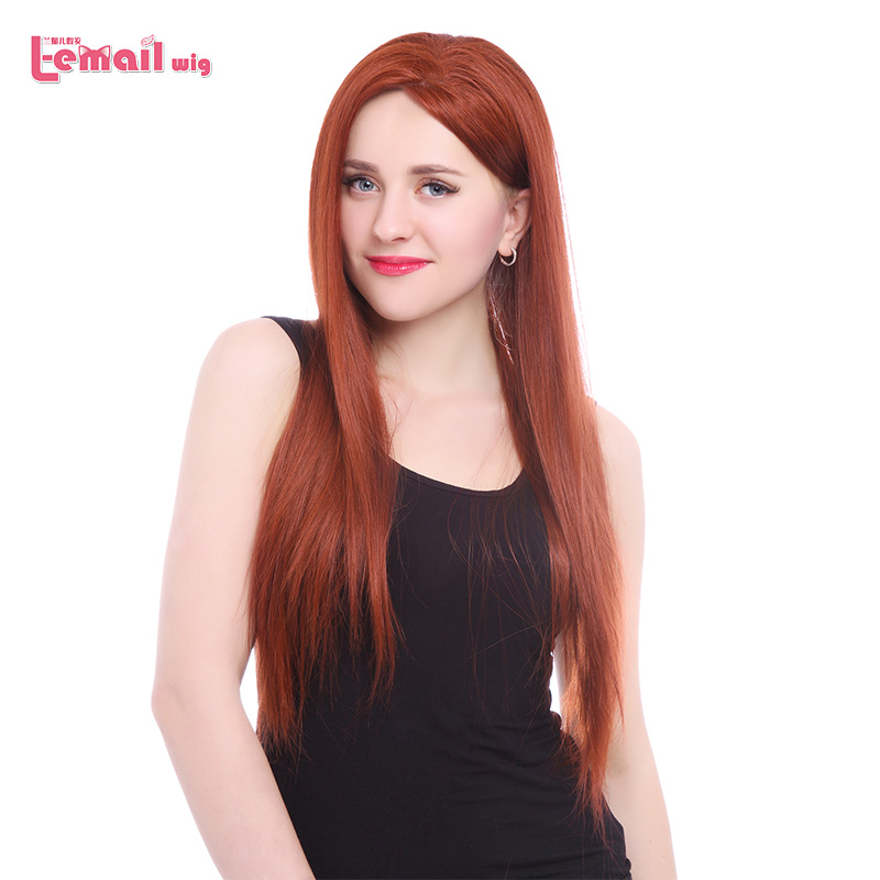 L-email wig Long Natural Straight Women Wigs Sexy High Quality Synthetic Hair Wine Red Lace Front Wigs LC33<br><br>Aliexpress