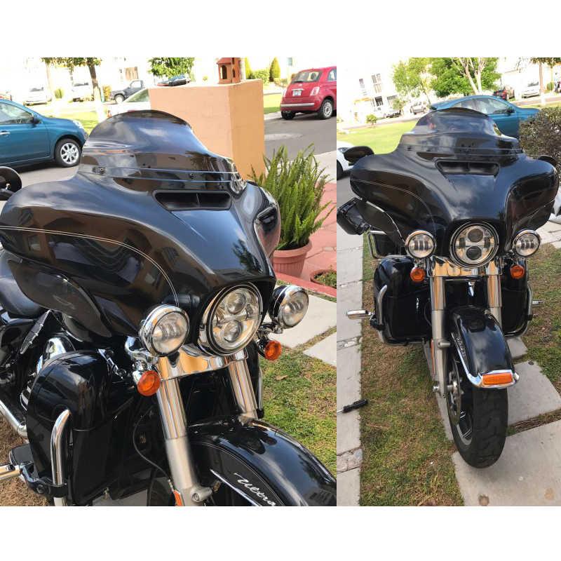 "Smoke 8/"" Wave Windshield Windscreen for Harley FLHT FLHTC FLHX Touring Electra"