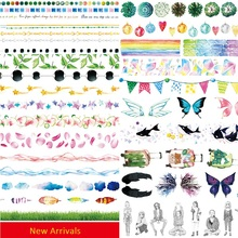 2017 New Stars Washi Tape Diy Masking Tape Print Deco Sticker Adhesive Japanese Scrapbooking Tools Escolar Papelaria Wholesales(China)
