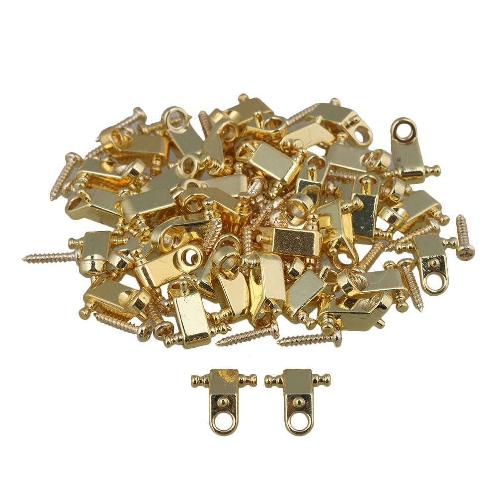 Yibuy Golden Copper Roller String Trees / String Retainers with Screws for Electric Guitar Pack of 100<br>