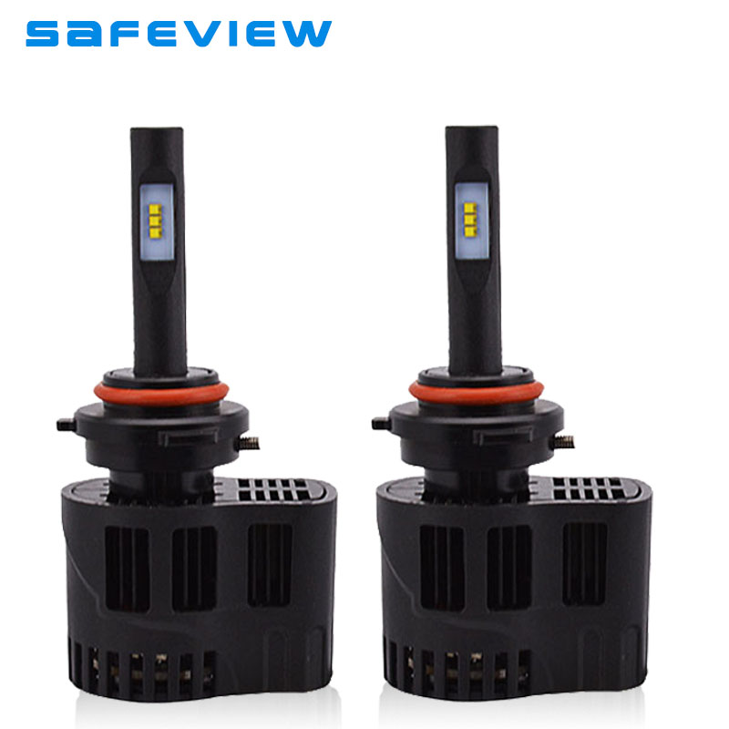 Safeview HB4 9006 Led car lighting Headlight 25W HB3 9005 single beam led lamp bulbs with cooling fan Auto parts refit Headlight<br>
