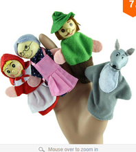 Delicate 4PCS/lot Little Hood Christmas Animal Finger Puppet Story Toys Hot Selling(China)