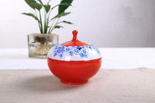 hot sale ecological new style blue and white porcelain Chinese tea storage suitable for all tea best gift T140(China)
