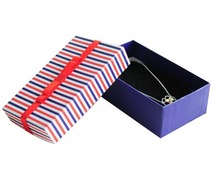 Stripe Box for Jewelry Free shipping wholesale 30pcs/lot Necklace Pedant Jewellery Packaging Gift Box 13.5*8*5cm