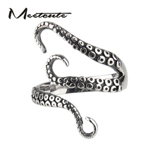 Meetcute Drop Shipping Cool Top Quality Titanium Steel Gothic Deep Sea Squid Finger Octopus Ring Jewelry Pirates of the Caribbea(China)