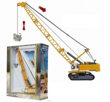 Alloy car model Tower type cable excavator kids toys Engineering crane The whole car metal Gift Package