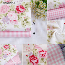40*50cm Pink bedding cloth 95% Cotton Fabric fat quarters for Sewing Tilda Doll Cloth DIY Quilting Patchwork Tissue Textile