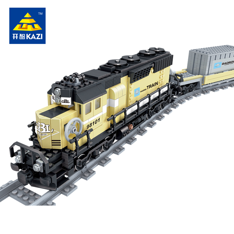 New-Battery-Powered-Maersk-Train-Container-Train-diesel-electric-freight-train-Building-Blocks-educational-toys-for