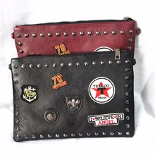 M671 Creative Fashion Specific Character Popular Rivet Alphabet Skull Badge Messenger Bags Small Size Women Bag Gift Wholesale(China)
