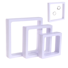 New Jewelry Box Display Tool Storage Transparent Square Film Holder Frame Window Case -W128(China)