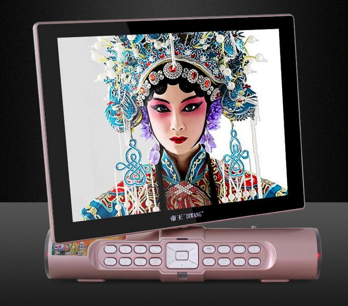 158Q Portable video player support bluetooth with TV screen 10inch and USB,TV,LED light,TF card port HD Mp3 Mp4 big speaker<br><br>Aliexpress
