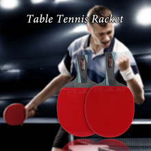LEIJIAER Table Tennis Racket Ping Pong Paddle Bat Blade Carry Case Long Handle Short Handle Rubber Wood Racket Table Tennis(China)