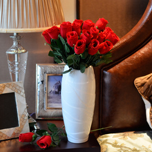 Free shipping (15 piece/lot) High quality artificial flower red rose single flower for living room decoration(China)