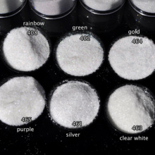 6 Colors Choosable Clear Nail Glitter Powder Shiny Powder Reflect Different Color Nail Glitter Dust DIY UV Art Decoration