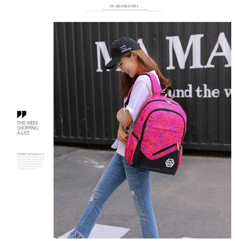 حقائب مدرسية عالية الجودة قماش 7
