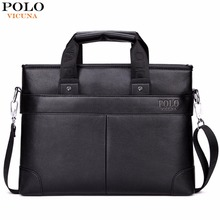 VICUNA POLO Promotion High Quality PU Leather Brand Mens Briefcase Classic Business Leather Men Handbags maletin cuero male(China)