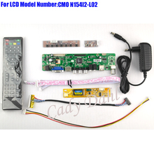 HDMI CVBS RF USB VGA AV TV Controller Board + Inverter + Lvds Cable + Remote for N154I2-L02 1280x800 1ch 6 bit LCD Display Panel