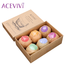 ACEVIVI Organic Bath Salt Bombs Skin Care Oil Sea Salt Handmade Bath Bombs Gift Set Pack of 6 Body Cleaner Rose Red Smell U2
