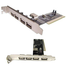 USB 2.0 PCI  Computer PC Card  -- 4 External Port +1 Internal Port to increase PC with 4 more USB ports