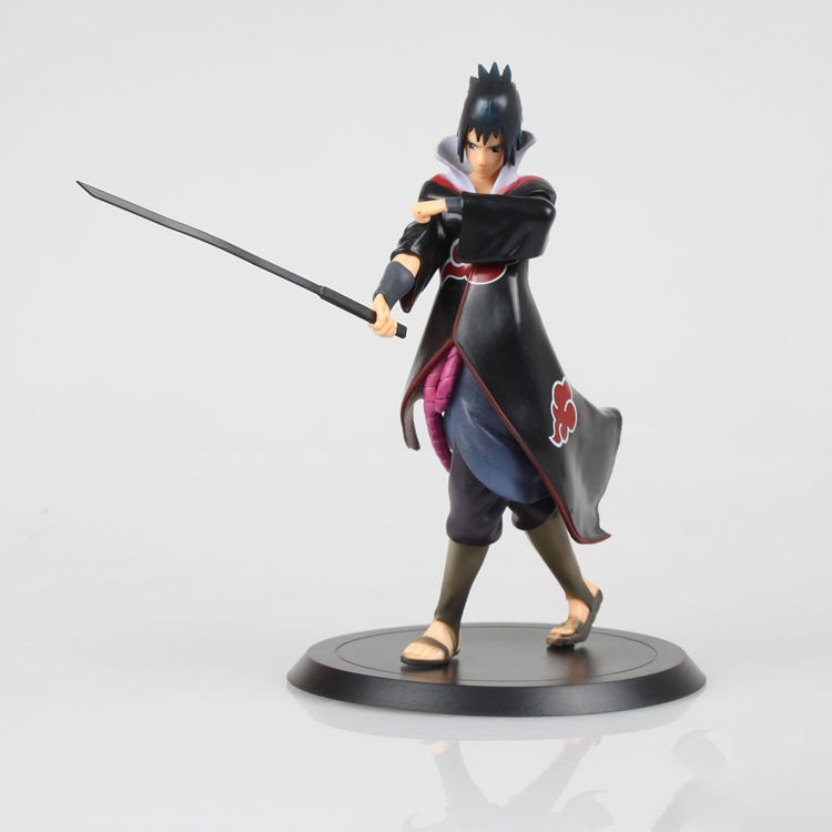 2015 New Anime Figure Naruto Shippuden Uchiha Sasuke Sword Doll Toys PVC Action Figure Anime Brinquedos Kids Toys Free shipping<br><br>Aliexpress