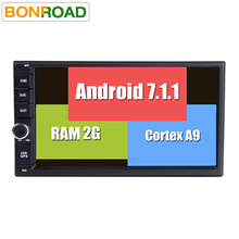 Android 7.1.1 Universal Double 2 Din Car DVD Player Radio GPS Navigation in Dash Stereo Video Car Multimedia Audio FM Headunit