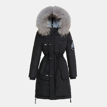 2XL Fashion Slim Winter Down Jacket Womens 2016 New Time Eye Large Diameter Thick Collar  In The Long Down Jacket Feminina YH785
