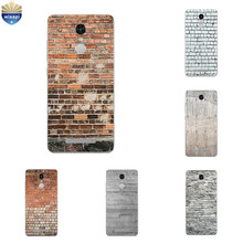 For Xiaomi Redmi Note 4 4X Silicone Phone Case for Redmi Note3 Back Cover Thin for Hongmi Note2 TPU Shell Brick Pattern