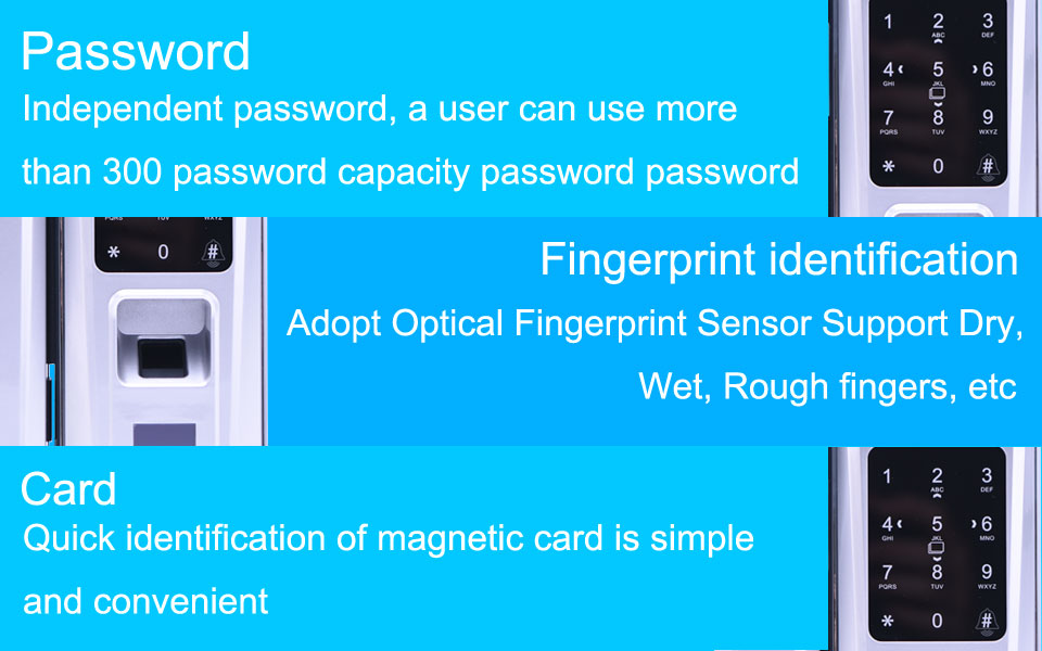 Wood Doors Glass Door Lock Keyless With Touch Keypad For Office and Homes Smart Electronic Door Lock Electric