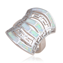 Huge Style pendientes products White Fire Opal Fashion Jewelry 925 Stamped Silver Rings for women USA #6#7#8#9#10 OR739A(China)