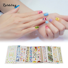2017 New Arrival Lovely Cartoon Character Series Nail Stickers And Decals Decorate Fingernails Cute Design For Beauty Girls