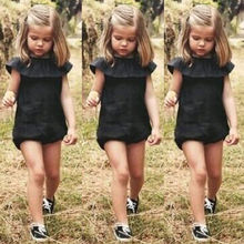 0-5Y Casual Baby Girl Kid Playsuit Romper Jumpsuit Outfit Summer Clothes Sunsuit One-piece