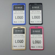 BINXUE Employee's card Cover card,ID Holder,Work card,identification tag,Aluminium alloy nonferrous metal staff badge Gifts