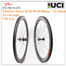 Farsports Top DT240S 36 ratchets hub 700C road carbon wheels 30 38 50 60 88mm tubeless bike wheel 23 25mm wide clincher wheelset