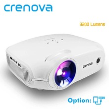 CRENOVA 2018 New LED Projector For Full HD 4K*2K Video Projector With VGA HDMI USB AV SD Home Theater Movie Beamer Proyector(China)