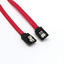 15cm SATA Cable Latching Serial ATA II 2 3GB Data Lead + Locking Clips S-S JUL10 25(China)