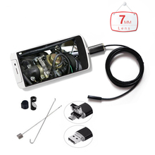 AIWOBA HD 2 In 1 HD USB Endoscope Camera Android 7mm Lens 1M 2M 5M 10M Cable Waterproof Endoscope Borescope Inspection Camera PC