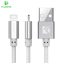 LOVEME Quick Charger Cable For iPhne 6 7 6S 5S SE PE Net Woven Micro USB Charging Cable For Samsung Galaxy s7 S6 1M 5V/2.1 Cable