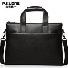 Genuine Leather Messenger Bags Business Style Handbag Briefcase Laptop Bags Men's Travel Cowhide Shoulder Bag P630551
