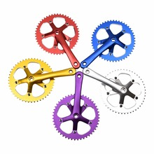 48T*170mm 130BCD Silver Full Alloy Single Speed Bicycle Crank Chainwheel Sets Track Fixie Fixed Gear Bike Cranksets Chainwheel