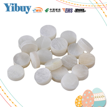 Yibuy 6mm White Mother of Pearl Shell Fingerboard Dots with Inlay Material For Guitar Pack of 20(China)