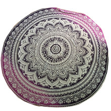 Round Beach Yoga Mat Pool Home Shower Blanket Indian mandala Top Sale Bathroom carpet Bath Mat Super Magic Slip-Resistant carpet
