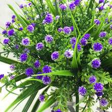 New Gypsophila Artificial Flowers artificial Floral Silk Fake Pom Poms Flower for Wedding Party Home Decoration Bouquet 6 Color