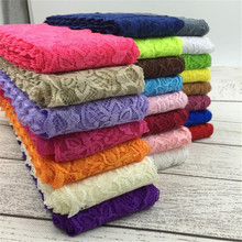 Free Shipping 10yards/lot Width 8CM 23 colors Elastic Lace Fabric diy clothes fabric accessories