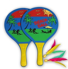Paddle Ball Game Badminton Indoor Outdoor Beach Lawn Backyard Racquet Game 63017981(China)